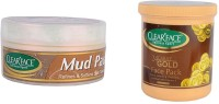 Clear Face Mud Pack 250 Gm With 24 Carat Gold Face Pack (Set Of 2)