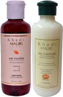 Khadi Mauri Satreetha Shampoo & Herbal Hair Conditioner Combo Pack Of 2 Ayurvedic Natural 210 Ml Each (Set Of 2)