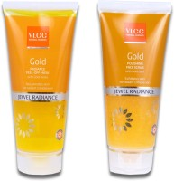 VLCC Natural Sciences Gold Jewel Radiance Face Scrub & Gold Jewel Radiance Peel-Off Mask (Set Of 2)