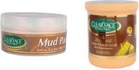 Clear Face Mud Pack & 24 K Multi Vitamin Scrub Skin Rejuvenator (Set Of 2)