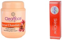 Clear Face Kesar Chandan Multivitamin Nourishing Skin Cream With Skinglow Cream (Set Of 2)