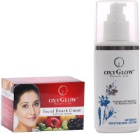 Oxyglow Facial Bleach Cream With Fruit Extracts & Intensive Moisturizing Lotion (Set Of 2)