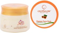 Oxyglow Saffron With Vitamin-E Gold Massage Cream & Papaya Face Pack (Set Of 2)