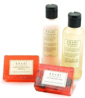 Khadi Great Indian Rose Nourishment Natural Skin & Hair Care Kit (Set Of 4)