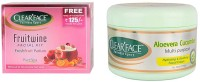 Clear Face Fruit Wine Facial Kit & Aloevera Cucumber Multi Purpose Facial Cream (Set Of 2)