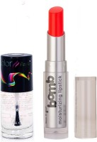 Color Fever 949 Topcoat Nail Polish+Neon Lipstick (Set Of 2)