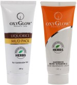 Oxyglow Combos and Kits Oxyglow Liquorice Mud Pack & Saffron With Vitamin E Gold Massage Cream