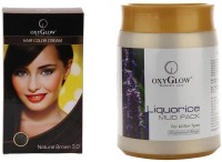 Oxyglow Hair Colour Cream-Brown & Liquorice Mud Pack (Set Of 2)