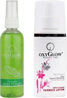 Oxyglow Cucumber Skin Toner & Saffron & Sandal Fairness Lotion (Set Of 2)