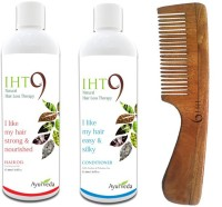 Lass Naturals Iht9 Hair Oil With Iht9 Natural Hair Conditioner+Neem Wood Hair Comb LC-1 (Set Of 3)