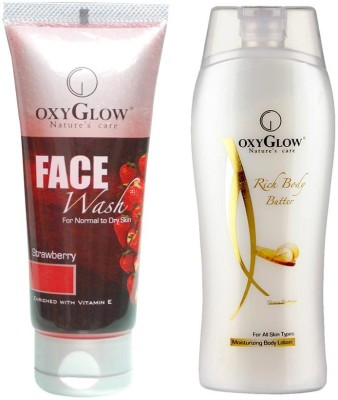 Oxyglow Combos and Kits Oxyglow Strawberry Face Wash & Rich Body Butter