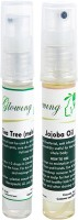 Glowing Buzz Combo Of 1 Tea Tree Essential Oil And 1 Jojoba Essential Oil (Set Of 2)