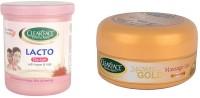Clear Face Lacto De-Tan With Kesar & Milk With 24 Carat Gold Massage Gel (Set Of 2)