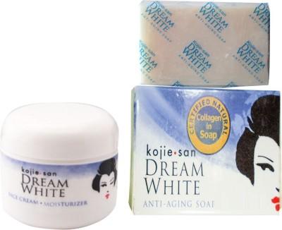 Kojie San Dream White Moisturizer Cream & Anti Aging Soap (Set Of 2)
