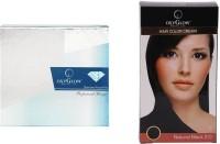 Oxyglow Diamond Facial Kit & Hair Colour Cream-Black (Set Of 2)