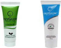 Oxyglow Essence Of Clove Anti Pimple Face Pack 3 & Oxynourshing Massage Cream (Set Of 2)