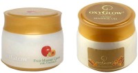 Oxyglow Fruit Massage Cream With Vitamin-E & Gold Massage Gel Eco Pack (Set Of 2)