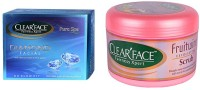 Clear Face Diamon Facial Kit & Fruit Wine Exfloiting Scrub (Set Of 2)