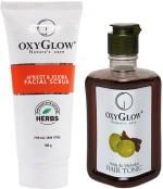 Oxyglow Combos and Kits Oxyglow Apricot & Jojoba Facial Scrub & Amla & Shikakai Hair Toinc