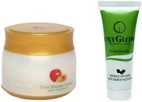 Oxyglow Fruit Massage Cream With Vitamin-E & Essence Of Clove Anti Pimple Face Pack 3 (Set Of 2)