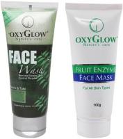 Oxyglow Neem & Tulsi Face Wash & Fruit Enzyme Face Mask (Set Of 2)