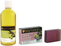 Soulflower Olive Oil And Soap Combo 1 (Set Of 2)