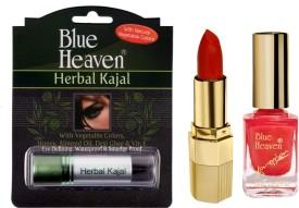 Blue Heaven Xpression Lipstick Mo 161, Xpression Nail Paint 991 & Herbal Kajal Combo.