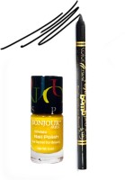 Bonjour Paris Color Fever 919 Black Pro Kajal+Yellow Nail Polish (Set Of 2)