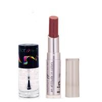 Color Fever 932 Topcoat Nail Polish+Mauve Lipstick (Set Of 2)