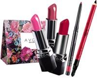 Avon Combo Gift Set (Lipstick + Lipliner + Kajal) (Set Of 6)
