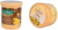 Clear Face 24K Gold Shea Butter Massage Cream With 24 Carat Gold Dust Almond Oil Massage Gel (Set Of 2)