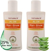 Yeturu's Aloe Hair Glow Protein Shampoo (Aloe Vera 25%) 100ml (pack Of 2no's) (Set Of 2)