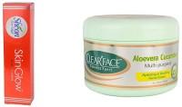 Clear Face Skinglow Cream With Aloevera Cucumber Multi Purpose Facial Cream (Set Of 2)