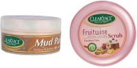 Clear Face Mud Pack 250 Gm With Fruitwine Scrub (Set Of 2)