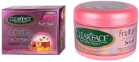 Clear Face Fruitwine Facial Kit & Fruit Wine Exfloiting Scrub (Set Of 2)