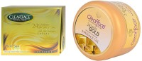 Clear Face 24 Carat Gold Facial Kit & Gold Dust Almond Oil Massage Gel (Set Of 2)