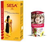 Ban Lab Sesa Hair Oil With Glow And Charm Facial Kit (Set Of 2)