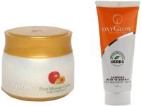 Oxyglow Fruit Massage Cream With Vitamin-E & Saffron With Vitamin-E Gold Massage Cream (Set Of 2)