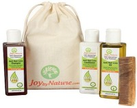 Joybynature 100% Natural Hair Loss Treatment Kit With Neem Wooden Comb (Set Of 4)