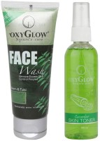 Oxyglow Neem & Tulsi Face Wash & Cucumber Skin Toner (Set Of 2)