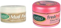 Clear Face Mud Pack Refines & Softness Skin Texture With Fresh Fruit Glow Pack (Set Of 2)