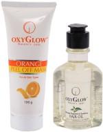 Oxyglow Combo & Kits Oxyglow Orange Peel Of Mask & Bhringaraj Regrowth & Revitalising Hair Oil