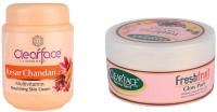 Clear Face Kesar Chandan Nourishing Skin Cream With Fresh Fruit Glow Pack (Set Of 2)