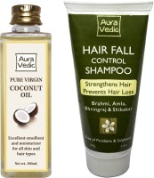Auravedic Pure Coconut Oil And Hair Fall Control Shampoo List 3 (Set Of 2)