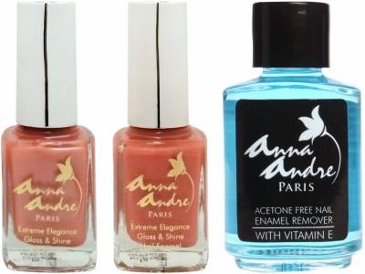 Anna Andre Paris Combos and Kits Anna Andre Paris Nail Polish Orange Peels Duo Set & Nail Polish Remover