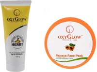 Oxyglow Fruit Massage Cream With Vitamin-E & Papaya Face Pack (Set Of 2)