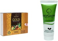 Oxyglow Gold Facial Kit & Essence Of Clove Anti Pimple Face Pack 3 (Set Of 2)