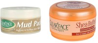 Clear Face Mud Pack Refines & Softness Skin Texture With Shea Butter Moisturising Cream (Set Of 2)