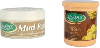 Clear Face Mud Pack Refines & Softness Skin Texture With 24 Carat Gold Face Pack (Set Of 2)