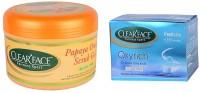 Clear Face Papaya Orange Scrub Gel With Oxyrich Cream Bleach (Set Of 2)